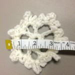 white crochet flower
