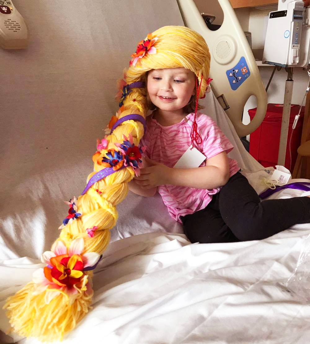 Organization Makes Yarn Wigs For Kids With
