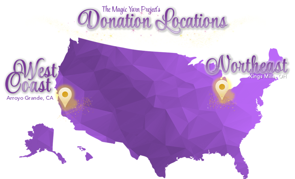 Donation locations map graphic